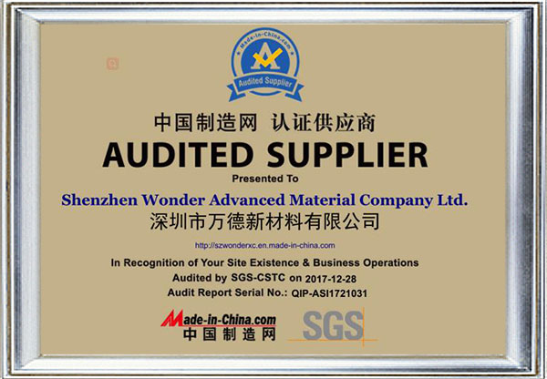 SGS-Certified Supplier