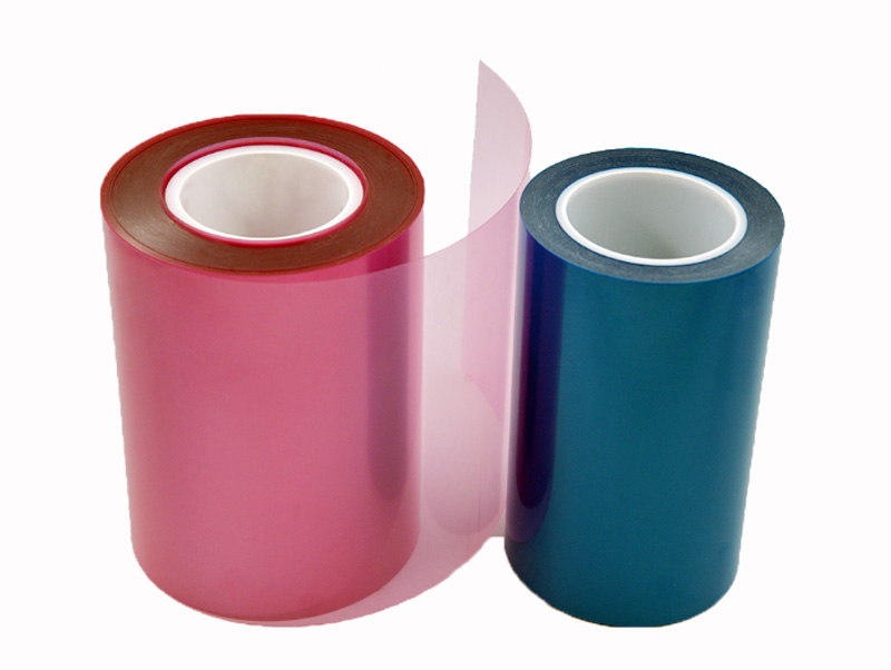 Transparent industry use thin colorful pet film silicone release film silicone coated pet release film