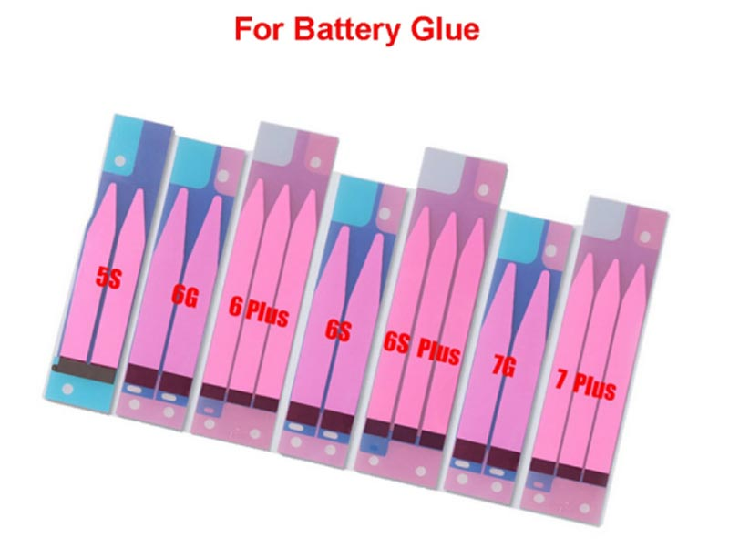 Professional Mobile Phone Repairing Double Sided Battery Glue Adhesive Tape Stripe Replacement for Iphone 5G / 5S / 6G / 6S / 7G / 7P