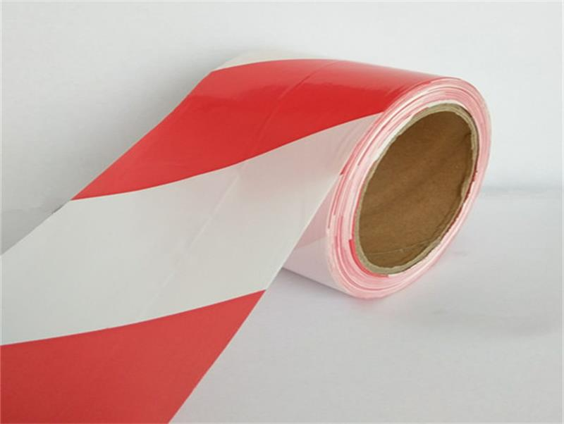 Color red / white underground detectable pe warning tape with no adhesive