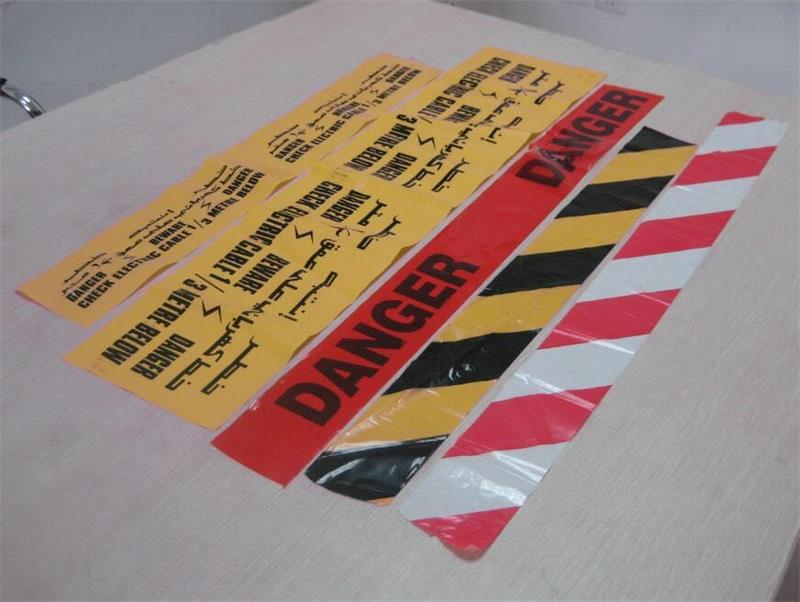 Non- adhesive warning tape