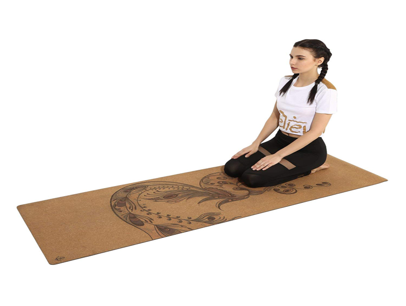 High density travel durable foldable coconut yoga mat with rope