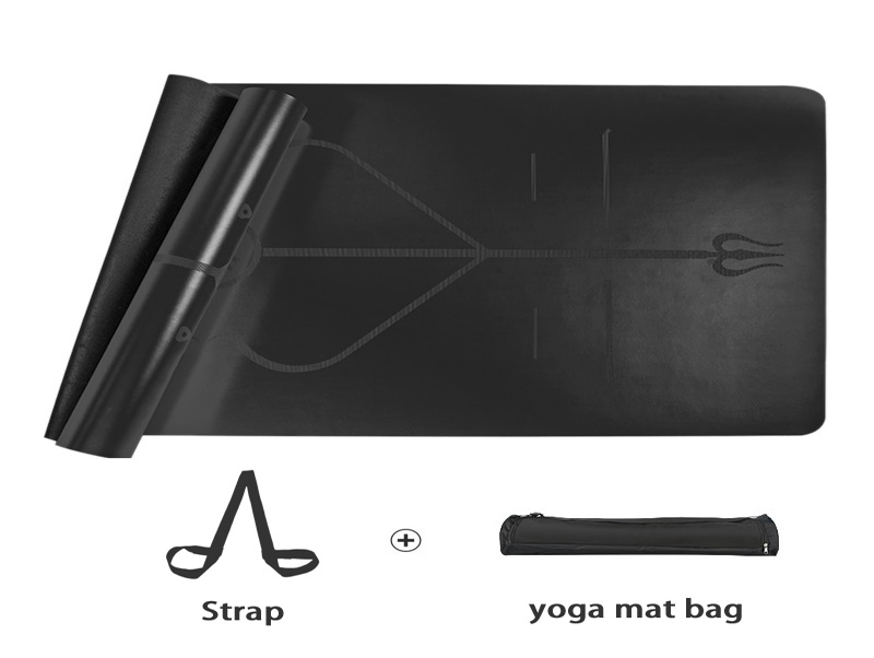 Black PU Top Rubber Yoga Mats Suppliers