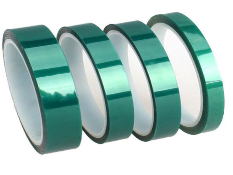High Temperature green PET Tape Made with Polyester and Silicone Adhesive for Powder Coating and Masking