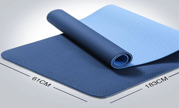 The tpe mat can be used for knee swing yoga