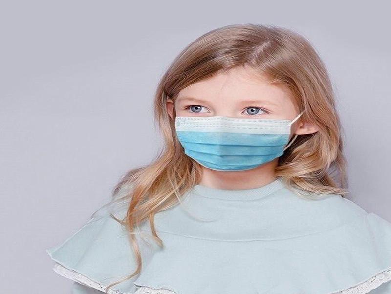 Disposable Children Mask 3 Ply Kids Face Mask Blue